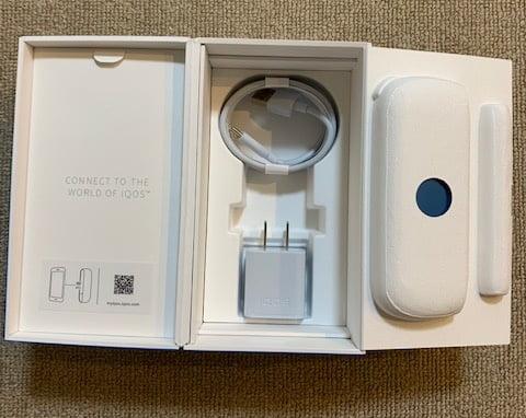 アイコス涼モデルパッケージ中身充電器