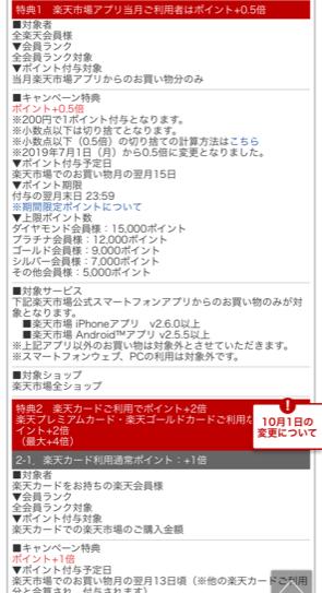 楽天市場SPUスーパーポイントアッププログラム詳細画面2枚目