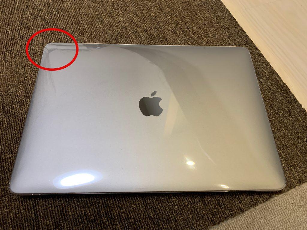 AMOVO MacBook Airケース画面側のt取り付け解説2