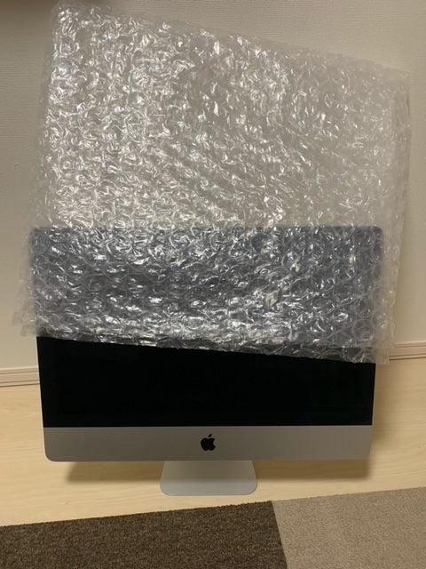iMacに被せるエアーパッキンの画像2