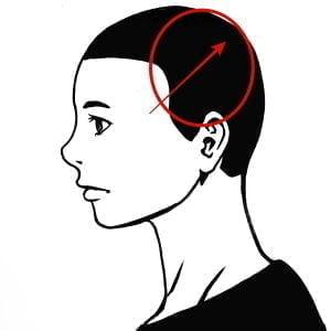 自分流のシャンプーの順番(頭皮マッサージ)側頭部の説明