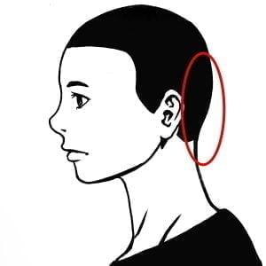 自分流のシャンプーの順番(頭皮マッサージ)後頭部の説明