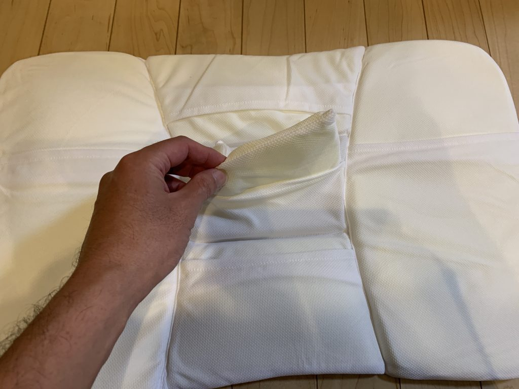 高さが10カ所調整できる枕 部分調整ウレタンシート ウレタン取り外し