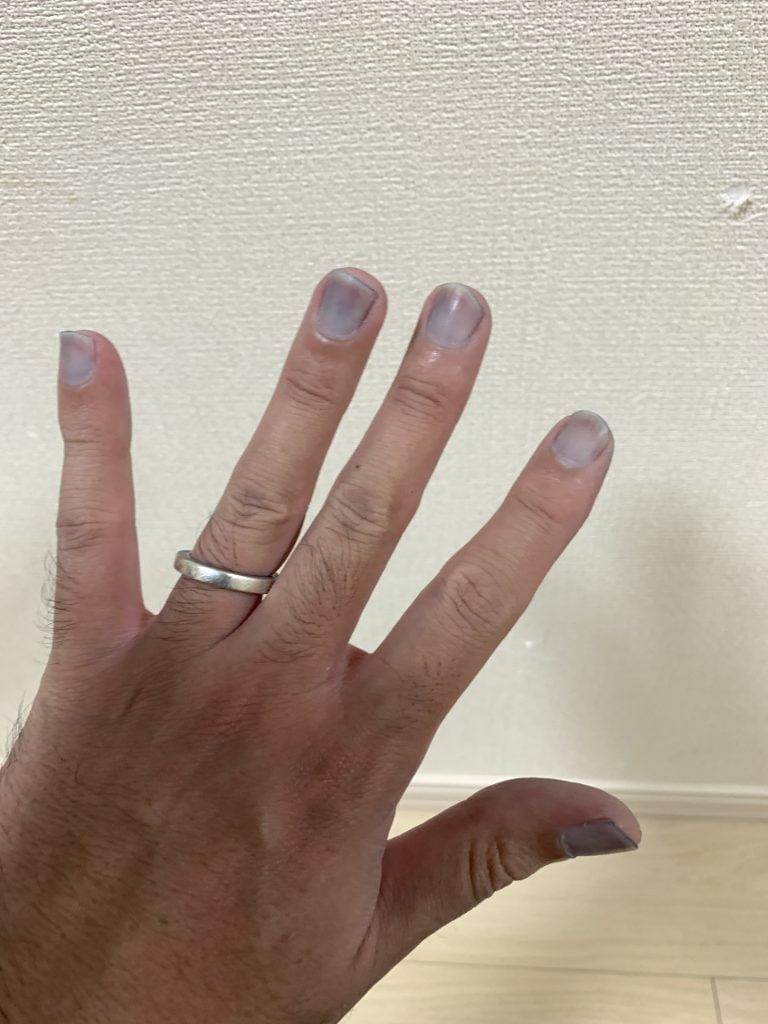 リーバイス 501xx 1947 リジッド 糊落とし解説 爪が青くなる