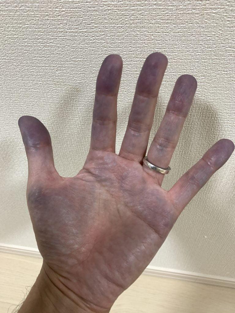 リーバイス 501xx 1947 リジッド 糊落とし 手が青くなる
